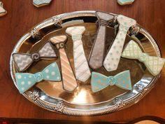 Tie and Bow Tie Cookies (1 dozen) on Etsy, $36.00