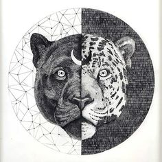 Yin Yang Jaguar Tattoo Design