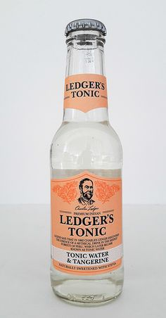 Ledger's Tonic Water & Tangerine - Gin Nerds Tonic Water, Gin And Tonic, Stevia, Whisky, Fentimans, Bitter Greens, Edible Plants, Bottle Design, Beer Bottle