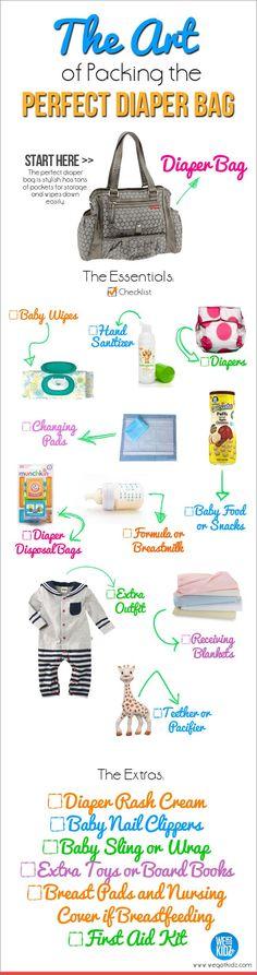 The Art of Packing the Perfect Diaper Bag #newborns #newparent #babies: