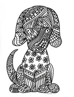 217 Best Dogs To Color Images Coloring Pages Coloring Books