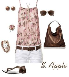 """Pink and Brown"" by sapple324 on Polyvore"