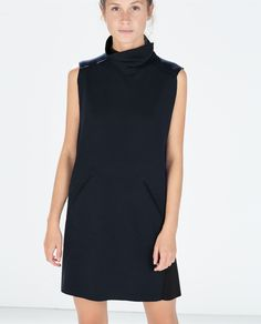 Image 2 of TECHNICAL FABRIC POLONECK DRESS from Zara