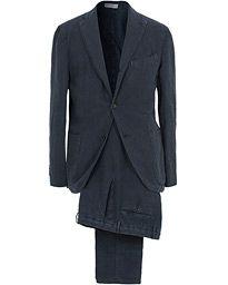Boglioli K Jacket Linen Suit Navy