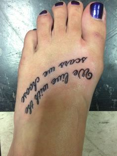 Fav quote tattoo