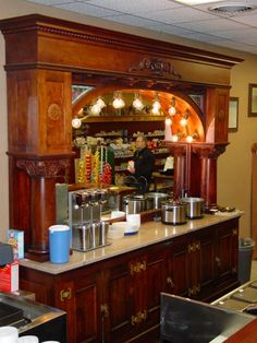 Would totally put this old fashioned - antique - soda fountain in my mansion.