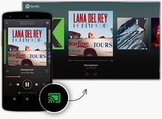 Spotify You can finally play Spotify through your Chromecast. Make sure your device is on the same Wi-Fi network as your Chromecast. Open the Spotify app, play a track, select Devices Available, and then select your Chromecast. It should work with new and old Chromecasts.
