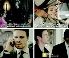 Snowbarry and Olicity parallels tumblr