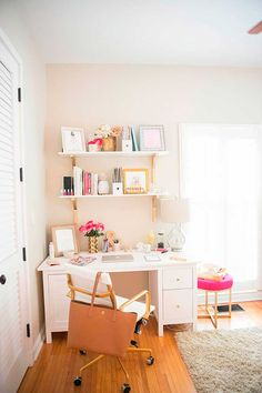 How to Add a Desk Area and Office to Your Small Bedroom | Mix ...