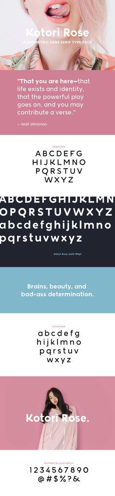 Kotori Rose - Free font! on Behance