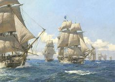 """""""West Indies Squadron"""" Hornblower's Ships by Geoff Hunt"""