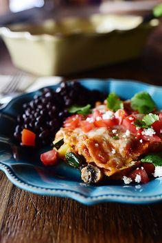 Grilled Veggie Enchiladas! So tasty, so colorful, so gooooood.