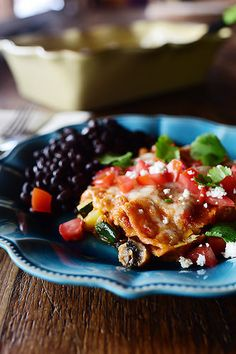 Grilled Veggie Enchiladas! So tasty, so colorful, so gooooood.