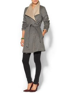 double layer wrap coat / piperlime