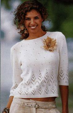 Пуловер с рукавами три четверти. Обсуждение на LiveInternet - Российский Сервис Онлайн-Дневников