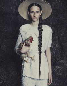 Bohemian Farmer Editorials - The Vogue Brazil July 2014 Editorial is Full of Feathers and Livestock (GALLERY)