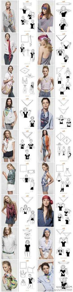.plusieurs méthodes pour améliorer sa tenue avec un foulard !!! juste génial