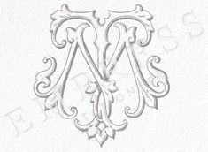 Wedding Monogram Collection by EmpressMonogramShop Wedding Logo Design, Wedding Logos, Monogram Wedding, Wedding Invitations, Monogram Design, Monogram Logo, Monogram Initials, Vintage Lettering, Lettering Design