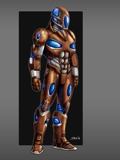 Armor in its true colors by Ihlecreations on DeviantArt Steampunk Weapons, Futuristic Armour, Alien Races, True Colors, Deviantart, Technology, Superhero, Artist, Fictional Characters