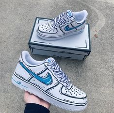 Cartoon Nike Air Force 1 Custom Shoes (Made To Order) Custom Sneakers - Sneakers - Schuhe Sneakers Fashion, Fashion Shoes, Shoes Sneakers, Women's Shoes, Black Shoes, Boy Shoes, Aldo Shoes, Shoes Style, Yeezy Sneakers