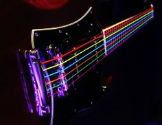 Neon guitar strings by DR