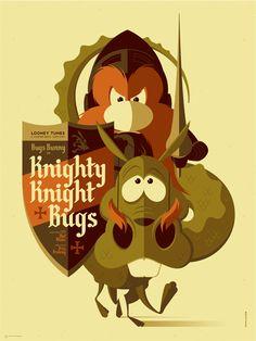 Mondo: The Archive | Tom Whalen - Knighty Knight Bugs, 2013