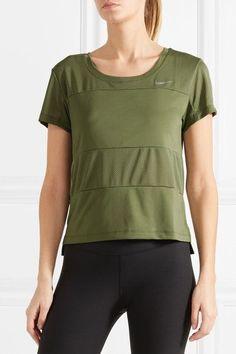 Nike - Paneled Dri-FIT stretch-jersey T-shirt ef9e7501d
