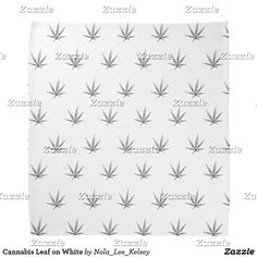 Cannabis Leaf on White Bandana