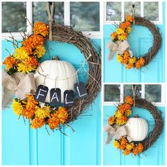 DIY fall floral wreath variations by MichaelsMakers Sugarbee Crafts