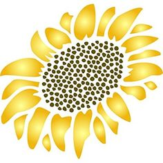Sunflower Stencil size x Reusable Wall Stencils for Painting Best Quality Wall Art Dcor Ideas Use on Walls Floors Fabrics Glass Wood Terracotta and More >>> Be sure to check out this awesome product. (This is an affiliate link) Sunflower Stencil, Sunflower Pattern, Stencil Wall Art, Stencil Painting On Walls, Rock Painting, Stencil Patterns, Stencil Designs, Fence Board Crafts, Printable Flower Coloring Pages