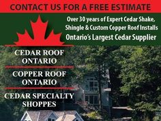 We offer a complete range of roofing materials and services. Our qualified technicians can provide written roof inspections for real estate or insurance. As well as; assessments and roof repairs including cleaning and preservation services. We also deliver cedar shakes shingles and siding to any job site. We offer the best quality cedar wood products at excellent prices Let the long-lasting natural beauty of a cedar roof make a prestigious statement for your home or cottage. call us… Cedar Shake Shingles, Cedar Shakes, Cedar Roof, Copper Roof, Any Job, Roofing Materials, Roof Repair, Business Pages, Free Quotes