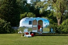 Airstream remodeled  by Amy Carman Design