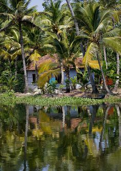 House in the backwaters, Kerala - India. I badly want to go kerala.