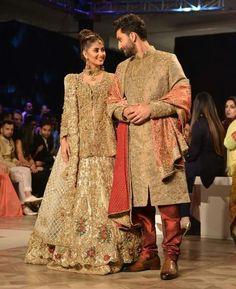 Sajal ali with ahad raza Pakistani Fashion Party Wear, Pakistani Dresses Casual, Pakistani Wedding Outfits, Muslim Wedding Dresses, Indian Fashion, Pakistan Movie, Pakistan Bride, Sajjal Ali, Pakistani Actress