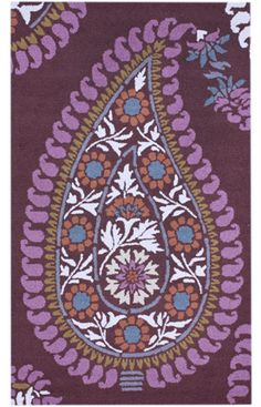 nuLOOM area rugs are more than just a floor covering, they are works of art. These brilliant designs are made in affordable materials with boundary-pushing techniques and concepts. Paisley Rug, Paisley Pattern, Paisley Print, Pattern Design, Print Design, Clearance Rugs, Rugs Usa, All Things Purple, Purple Haze