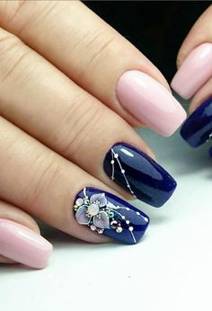 76 Pretty and Delicate Floral Nail Designs 76 Pretty and Delicate Floral Nail Designs,Design Related posts:The sweetest and festive Christmas nail designs for the celebration - - Cute Nail Art Designs to. Fall Nail Art Designs, Simple Nail Designs, Beautiful Nail Designs, Cute Nails, My Nails, Fall Nails, Jolie Nail Art, Nail Effects, Manicure E Pedicure