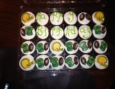 9edffe328 Green Bay Packers Cupcakes  I made these for our Great Nephew s 15th  Birthday