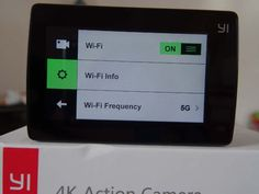Test Xiaomi Yi Cam 4K - menu de selection du wifi