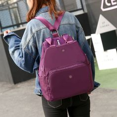 Women Nylon Multifunction Handbags Casual Shoulder Bags Backpack Waterproof Crossbody Bags