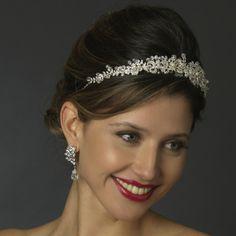 Antique Silver Freshwater Pearl & Crystal Bead Swirl Headband.  Kim's Bridal, Keywords:  #michiganeventrentals #michiganbridalshop #weddingrentals #weddingaccessories #kimsbridal Follow Us: http://www.kimsgiftbaskets.com/ ... https://www.facebook.com/KimsGifts
