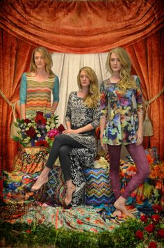 AMMA Design Fall 2014.  Feminine silhouettes, bold prints, and fashionable styles!