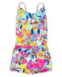 22115593c4db Lilly Pulitzer Girls Mini Deanna Romper in Multi Besame Mucho Lilly Pulitzer