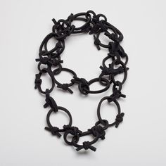 German artist VERENA KLETTE-DE has created this innovative Neoprene Necklace from rubber foam laminated with nylon jersey.
