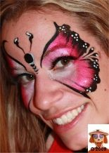 Butterfly face painting - 2009