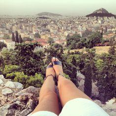 overlooking lycabettus hill
