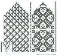 жаккардовые узоры. Обсуждение на LiveInternet - Российский Сервис Онлайн-Дневников Knitting Charts, Knitting Stitches, Knitting Patterns, Knitted Mittens Pattern, Knit Mittens, Mosaic Patterns, Loom Patterns, Crochet Chart, Knit Or Crochet