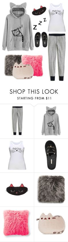 """""""Kitty Hoodie"""" by sab26bas ❤ liked on Polyvore featuring J.Crew, Charlotte Olympia, UGG, Gund and Hoodies"""