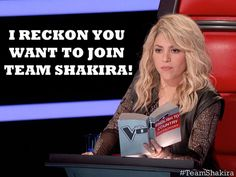 Blake Shelton better watch out, Shakira is getting in touch with her country side! #TheVoice #StuffCoachesSay