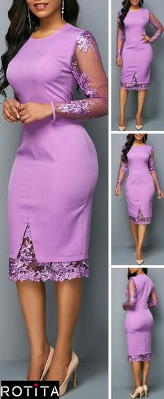 This stunning dress is a must have staple for whatever time of year. The True to You purple Midi Dress is loyally devoted to keeping you looking good! Good idea to add sleeves to purple dresss. Latest African Fashion Dresses, African Print Fashion, African Attire, African Dress, African Wear, Elegant Dresses, Sexy Dresses, Party Dresses, Stunning Dresses