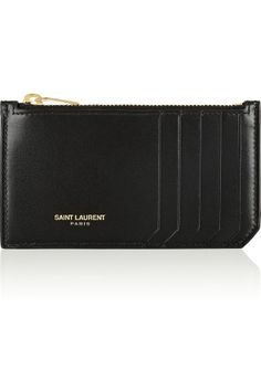 Saint Laurent | Zipped leather card holder | NET-A-PORTER.COM